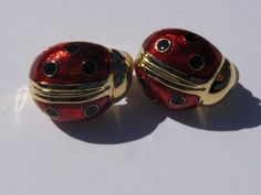 .99 cent Joan Rivers ladybug earrings