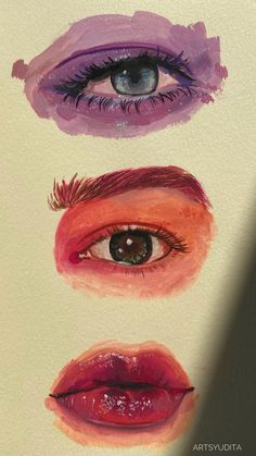 gouache and watercolour paintings