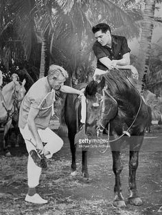 """Elvis on location for """"Blue Hawaii"""" 