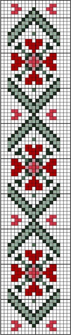 Loom Pattern Hearts bookmark or border. Free sewing pattern graph for cross stitch or plastic canvas. Cross Stitch Bookmarks, Cross Stitch Heart, Cross Stitch Borders, Cross Stitching, Cross Stitch Embroidery, Cross Stitch Patterns, Bead Loom Patterns, Beading Patterns, Knitting Charts