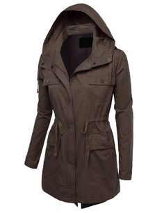 J.TOMSON Womens Military Anorak Jacket With Pockets