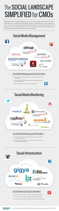 The Social Landscape Simplified for CMOs // CMO-Social-Cloud-Infographic
