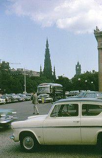 1966-09 Car Parking Between the Galleries, Off the Mound, Edinburgh, Scotland