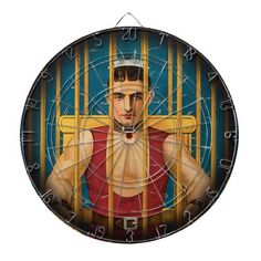 Electric Chair Magic Vintage Magician Dart Boards - Creepy darts game board!