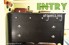 organizing with used dressers