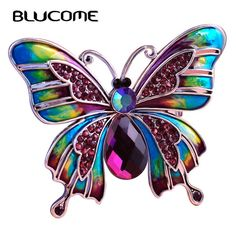 R Vintage Jewelry Large Enamel Butterfly Corsage Lot Wedding Broach Insect Veil Pin Up Broches SODIAL