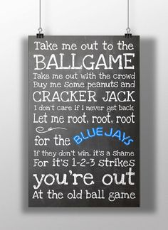 Hey, I found this really awesome Etsy listing at https://www.etsy.com/listing/189587865/toronto-blue-jays-take-me-out-to-the