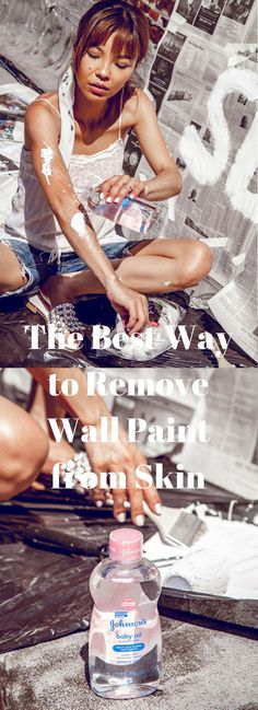 The Best Way to Remove Wall Paint from Skin // MaQ and Suz // www.suzannespiegoski.com