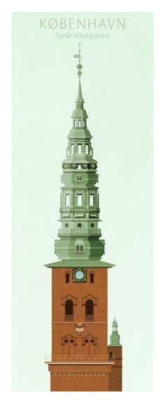 Towers of Copenhagen on Illustration Served