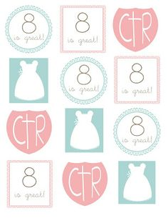 Girls LDS Baptism printables