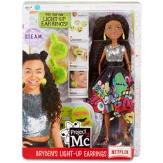 Shop Now for Project Experiments with Doll Bryden's Light Up Earrings Toy, huge range of Project with worldwide delivery from Bentzen's Emporium Ltd Project Mc2 Toys, Project Mc Square, Barbie Toys, Lol Dolls, Science Projects, Toys For Girls, Birthday Presents, Cool Toys, Baby Dolls