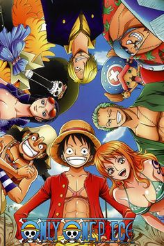 One piece anime (Starting at Bottom) Captain Luffy, Nami, Zoro, Chopper, Franky, Sanji, Brook, Nico Robin, Usopp