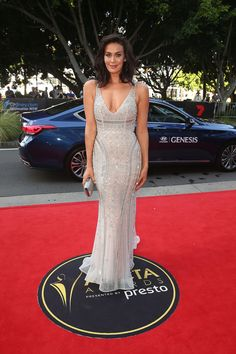 Megan Gale.. Paolo Sebastian couture design..