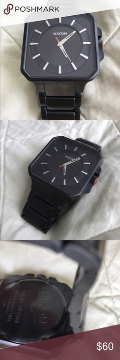 "Nixon ""The Platform"" Watch Excellent condition. Face is completely free of scratches. Worn just a few times. Nice black ""gun metal"" like material. Nixon Accessories Watches"