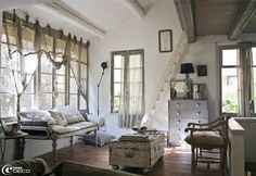 French country living room.