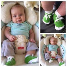 Ethan rocking our Johnny socks! trumpette.com