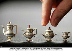 "Faberge- ""Miniature Tea Set"" made for Queen Alexandra"