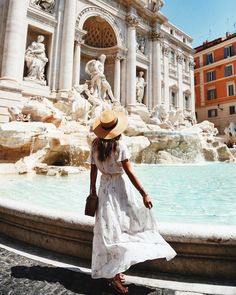 Lovely Pepa at The Trevi Fountain in Rome