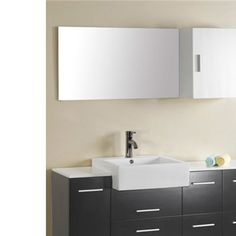 Virtu USA UM-3055 Hazel Black Single Sink Bathroom Vanity - Vanity Top Included