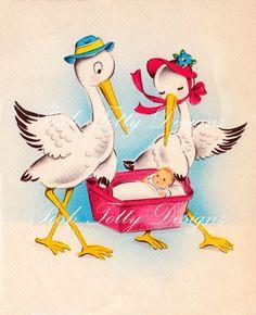 The Stalk Vintage Digital Download Greetings by poshtottydesignz