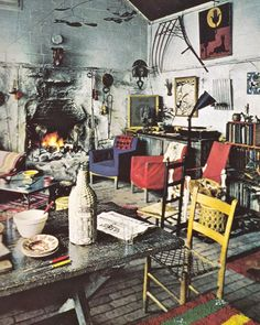Alexander Calder's Living Room.  I love how this photo is actually a very effective portrait of Calder in its own way.