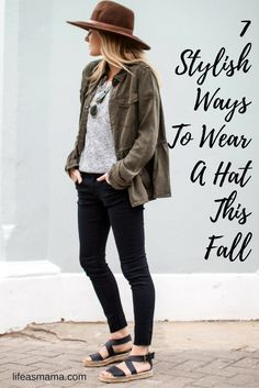 There are tons of hats out there and even more ways to style them, so if you need some Fall fashion inspiration check out these 7 ways.