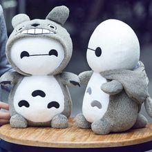 Juguete del bebé Totoro 32 CM muñeca blanca almohada juguetes de peluche grande cumpleaños de la muchacha del día del niño del regalo