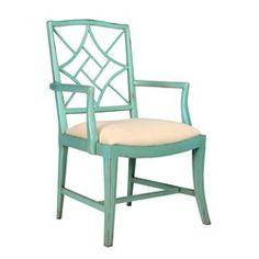 'Evelyn Arm Chair, Seafoam Green