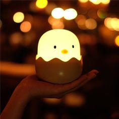 52b2512f34a APUPPY Cute Creative Egg Shell Night Light, Rechargeable Egg Shell Chick  Shape Top Control Lamp for Girl Lady Kid Baby Bedroom and Nursery >>> Check  out ...