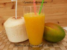 Frullato+di+mango+e+acqua+di+cocco