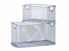 Zeller Boxen-Set, 2-tlg., Mesh, L27 x B14 x H15,5; L20 x B12 x H11,5 cm - Lidl Deutschland - lidl.de