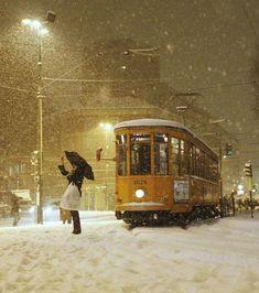 La bellezza dei tram di Milano - Il Post #Paesaggi