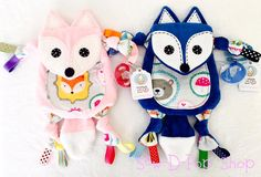 Sweet set of foxes for twins!