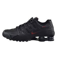 Nike Shox Nz Mens 378341-017 Black Red Running Shoes Athletic Sneakers Size 7.5