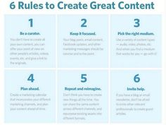 6 Rules to create great content