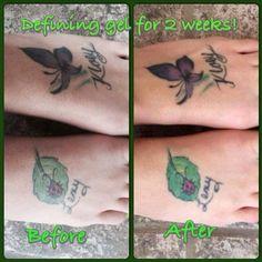 defining gel brightens tattoos!!