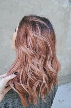 Rose gold hair!