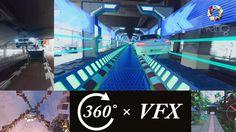 [VR映像] 360° 実写動画 × 3DCG合成  (360度VFX映像 3作品)