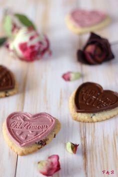 Coeurs sablés aux cranberries et chocolats - Framboises & Bergamote