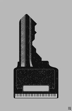 Piano key illustration