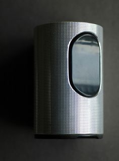 vintage Braun T2 lighter (Dieter Rams, 1968) in uncommon silver plated grid pattern case