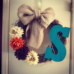 DIY wreath. Supplies were just $25 dollars from Michaels.