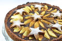 Apfel-Karamell Kuchen mit Zimt-Sternen