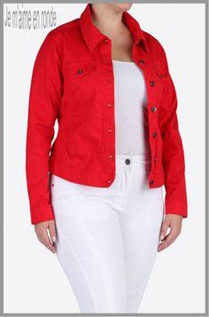 1000 images about veste en jean femme ronde mode on pinterest. Black Bedroom Furniture Sets. Home Design Ideas