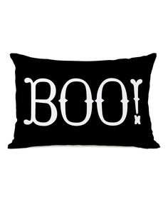 Black 'Boo!' Throw Pillow