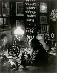 L'horloger de la rue Dauphine, ca 1932-1933 by Brassaï