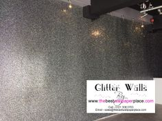Black/Silver #glitterwallpaper sent in to us by Geordie Shores Sophie Kasaei for her new business.