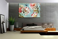 Elegant designed 1-panel canvas print on artist canvas with floral in contemporary style. It is available in numerous sizes to fit any size room!