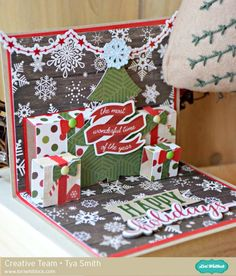 Hi Lori Whitlock friends - it's Tya here and I am up on the blog today with a tutorial for this awesome card. I love the little scene in the photo, it's so fun and festive! I used the Christmas Tre...