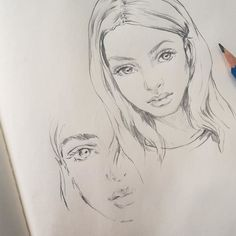 Reference via Nicole Lowe and Sophia Frankish Cool Drawings, Drawing Sketches, Face Sketch, Sketching, Sketch Nose, Simple Drawings, Sketch Art, Sketch Design, Pencil Art